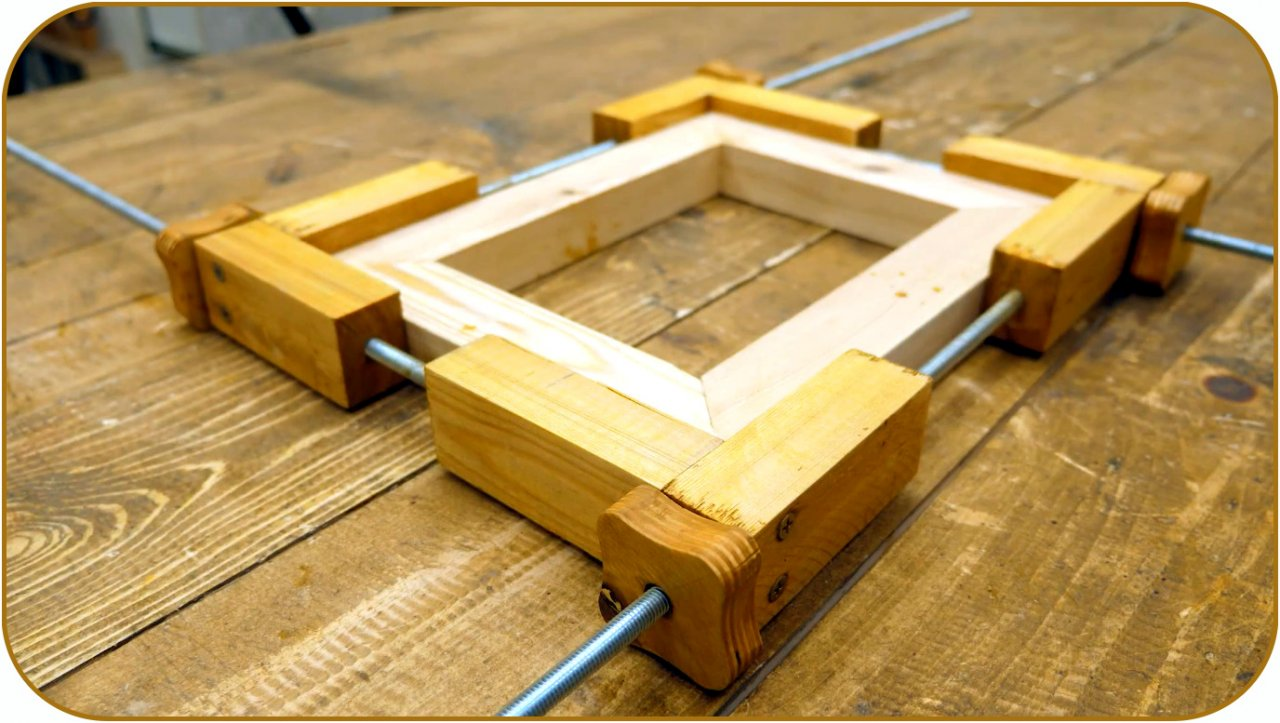 Do-it-yourself simple frame clamp