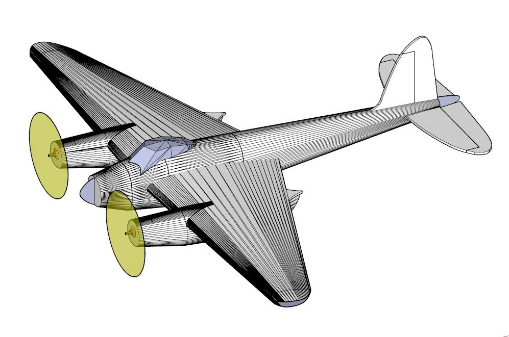 Model aircraft radio-controlled de Havilland DH.98