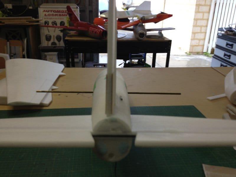 Airplane model on radio control de Havilland DH.98