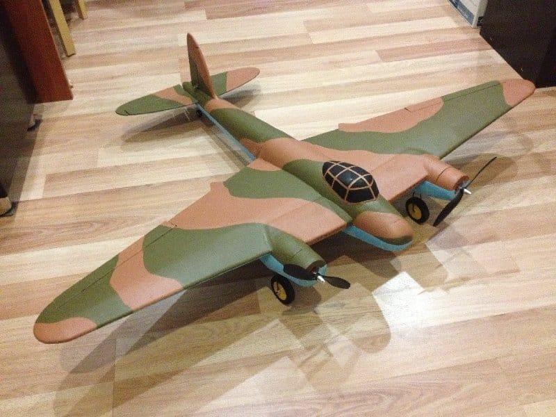Model aircraft radio controlled de Havilland DH.98