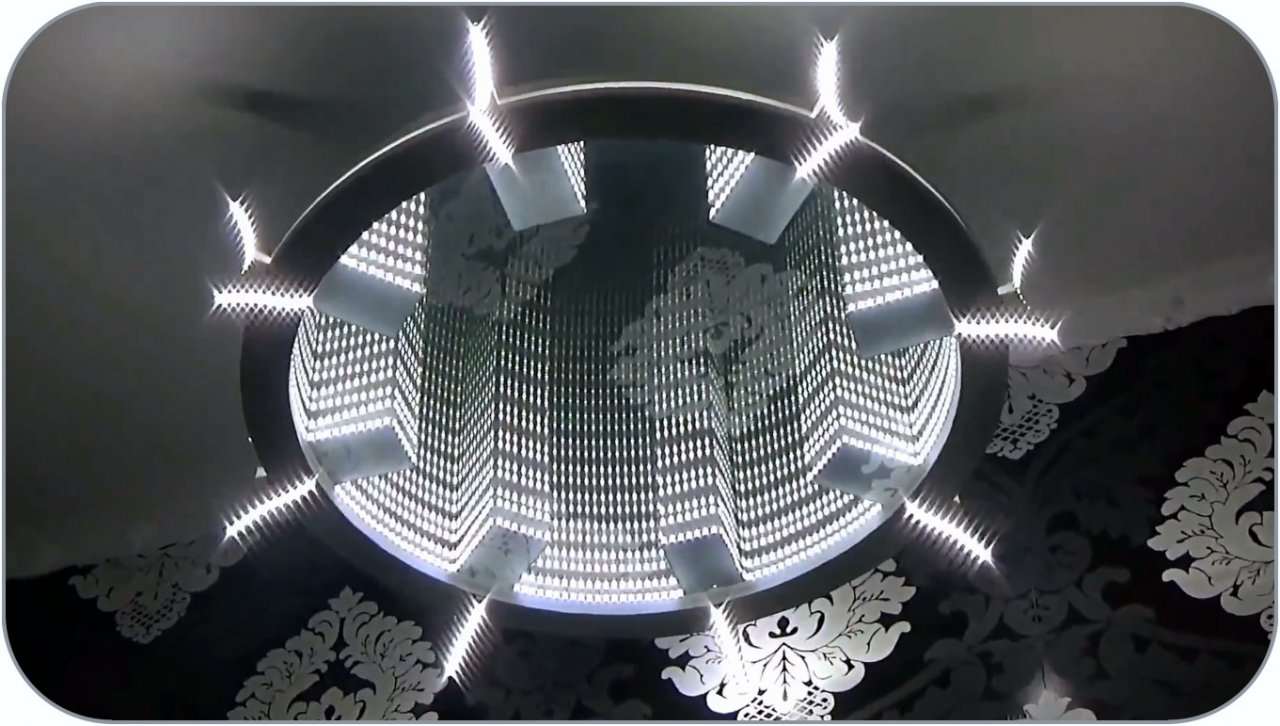 How to make a LED chandelier with 3D effect