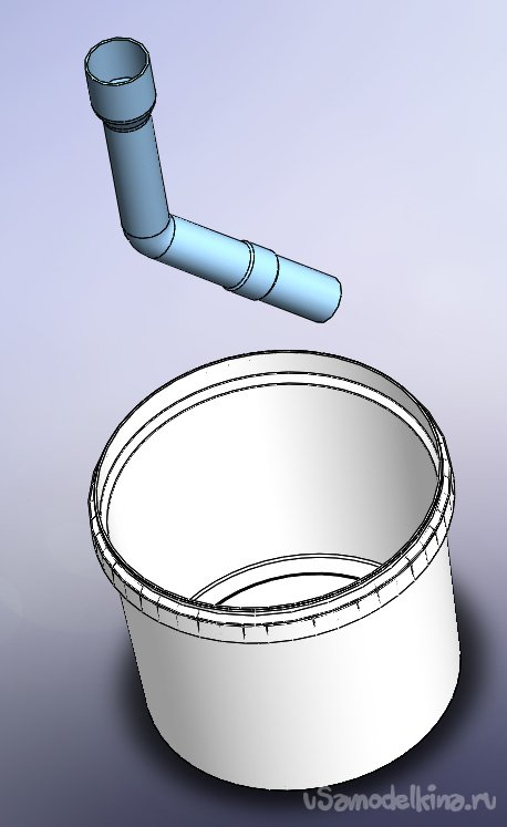 Water filter for the old vacuum cleaner