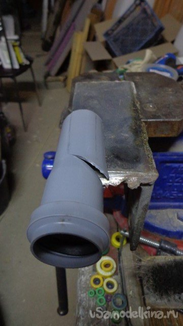 Chip remover for the attachment 'Chain saw for angle grinder'
