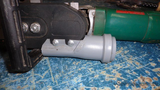 Chip remover for the attachment 'Chainsaw for angle grinder'