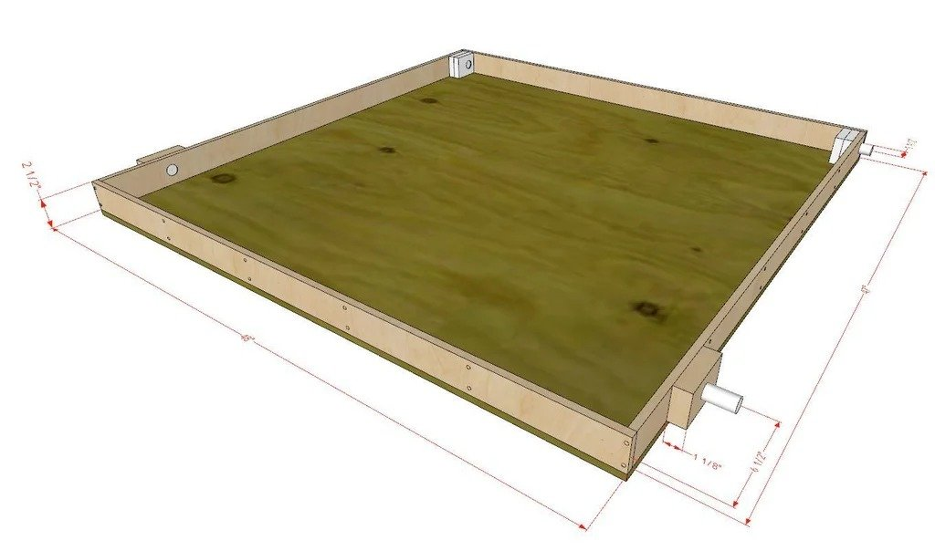 Table for a CNC milling machine (working in vertical and horizontal position)