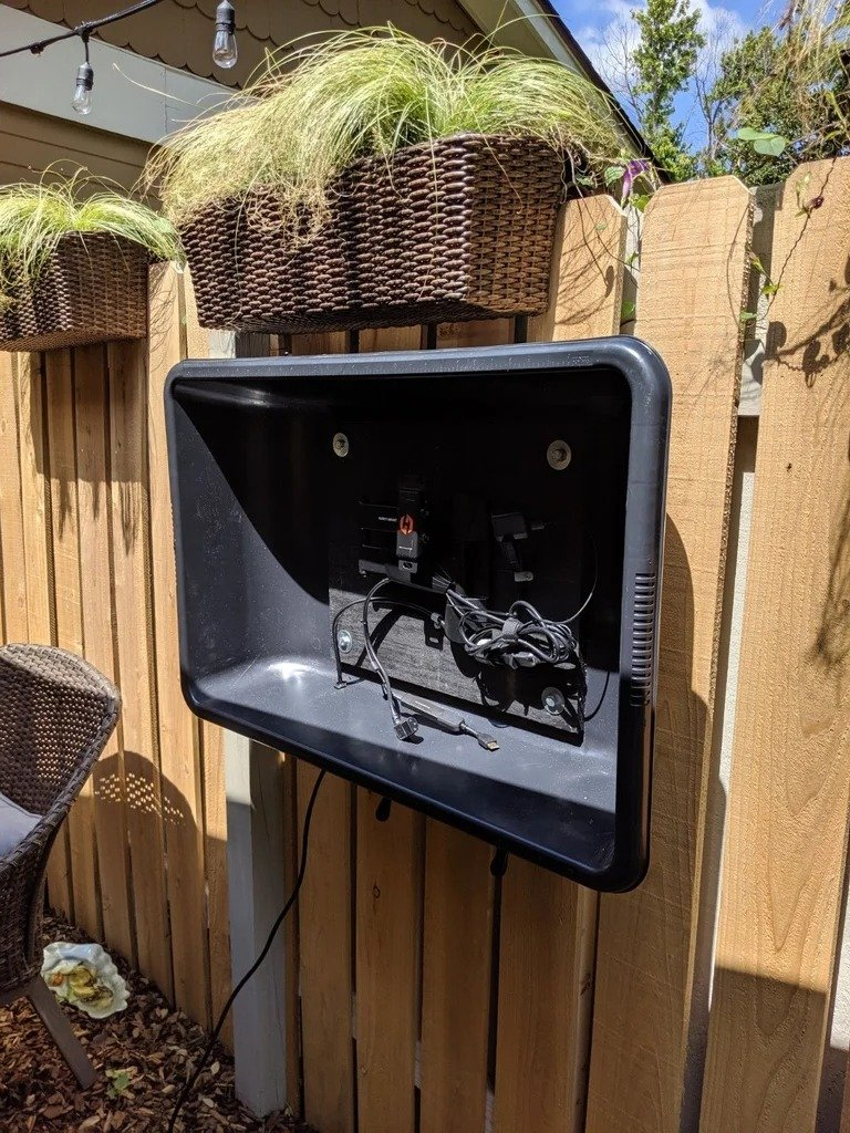 How to install a TV outside