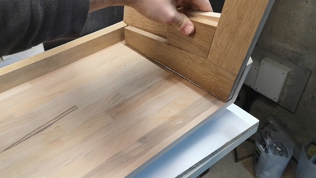 Folding table made of wood