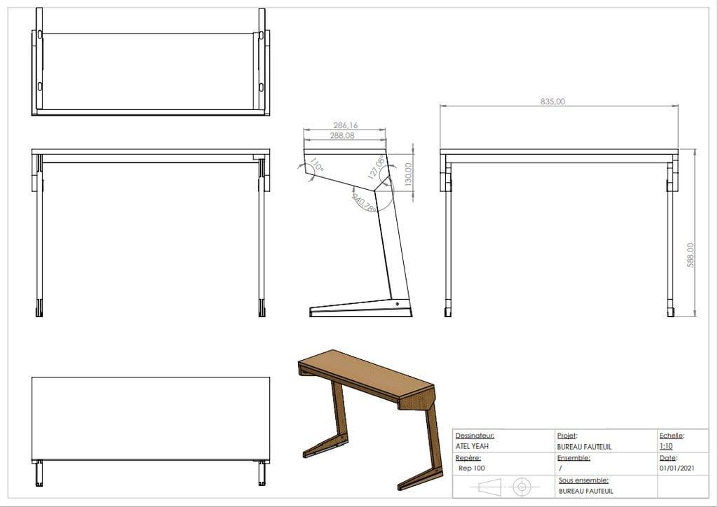 Folding wood table