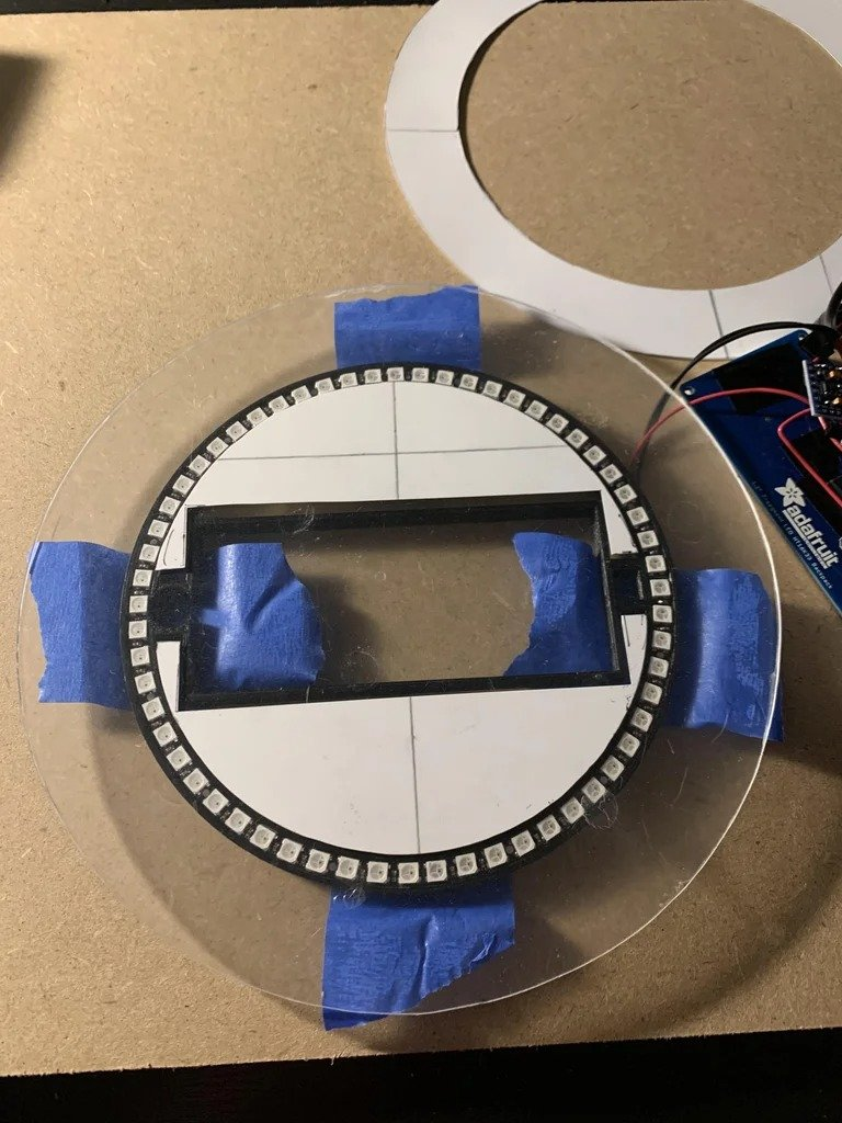7-segment clock NeoPixel with countdown timer and remote control