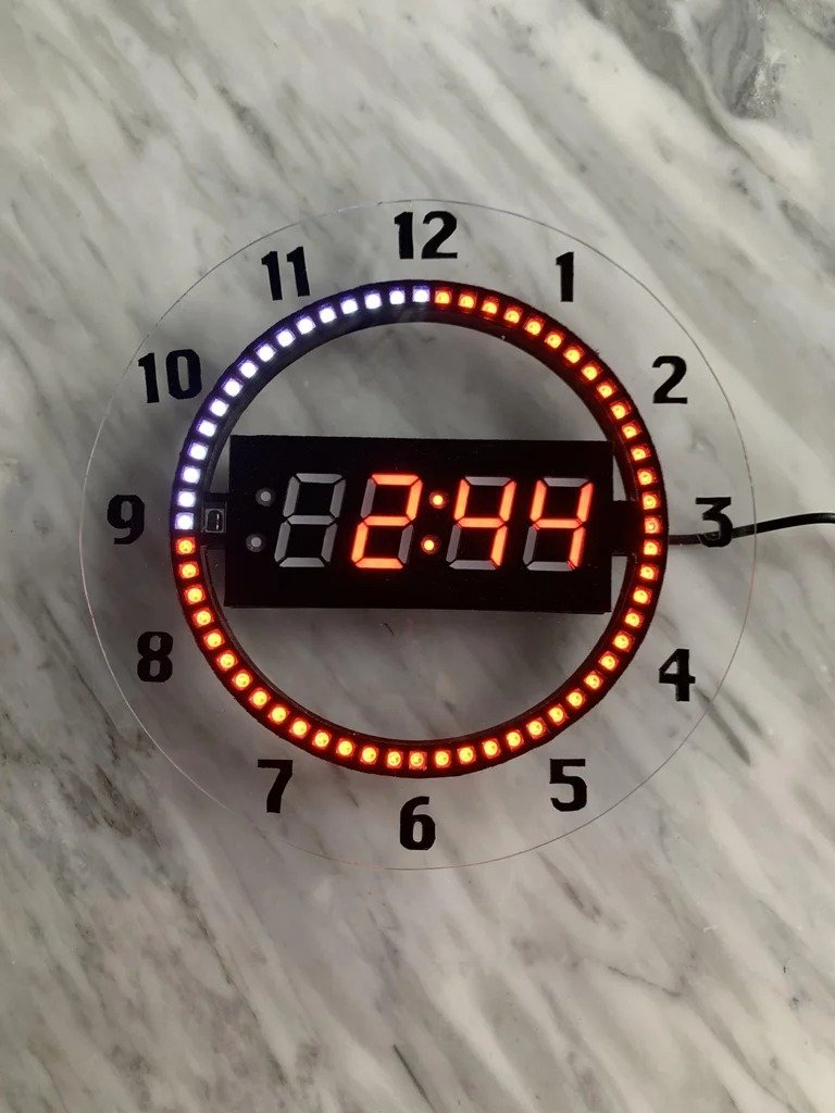 7-segment NeoPixel clock with countdown timer and remote control