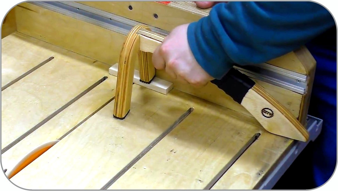 How to make a manual clamp for a circular saw