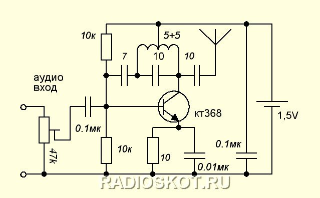 Audio transmitter for TV