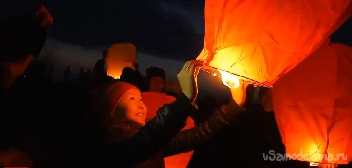 Do-it-yourself sky candle or Chinese flashlight