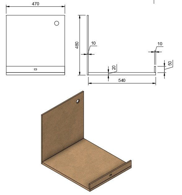 Cabinet with a hood, for a 3D printer