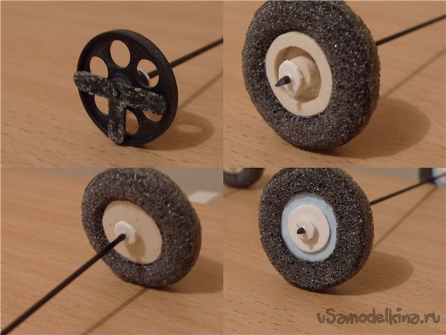 Wheels for planes from a tourist mat