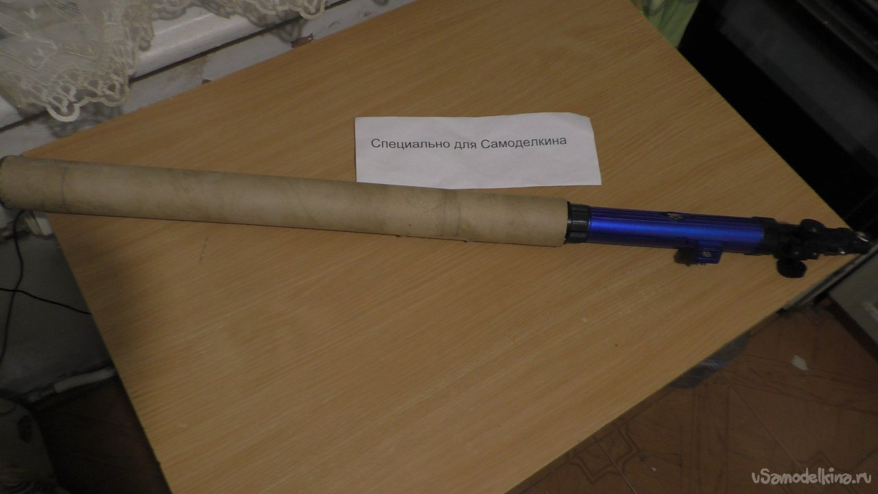 Modification of the toy telescope from the children's set up to 100x magnification