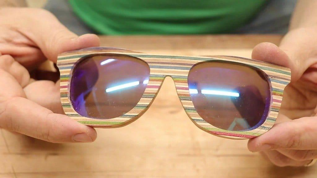 Veneered sunglasses