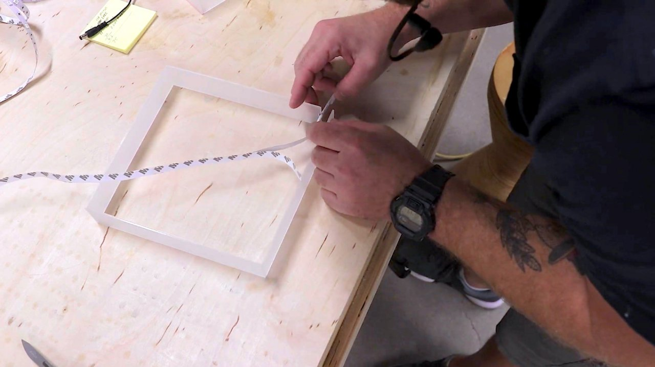 How to make an infinite mirror lamp