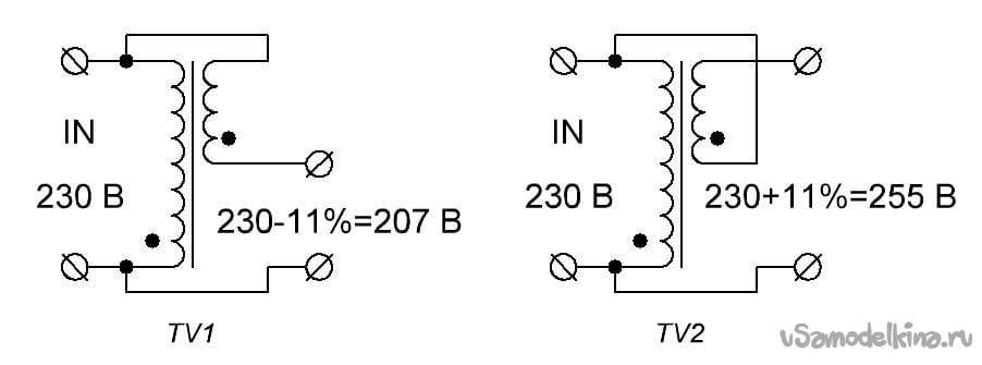 Stabilizer for 230 volt network