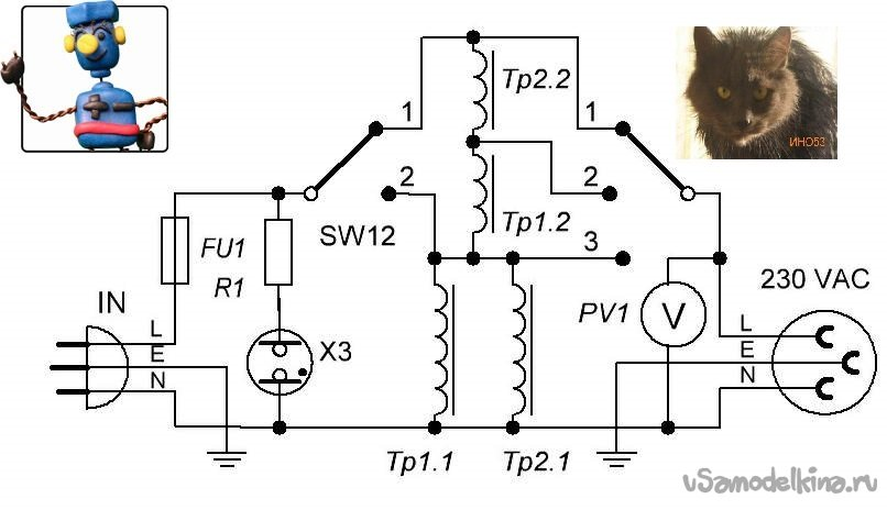 230 volt network stabilizer