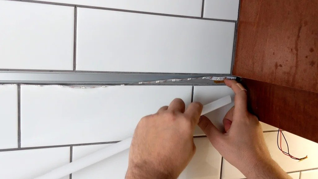 Informational LED panel integrated into the home network