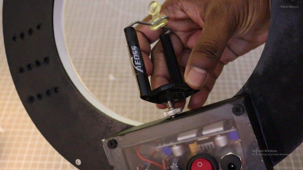 Ring LED lamp for studio shooting