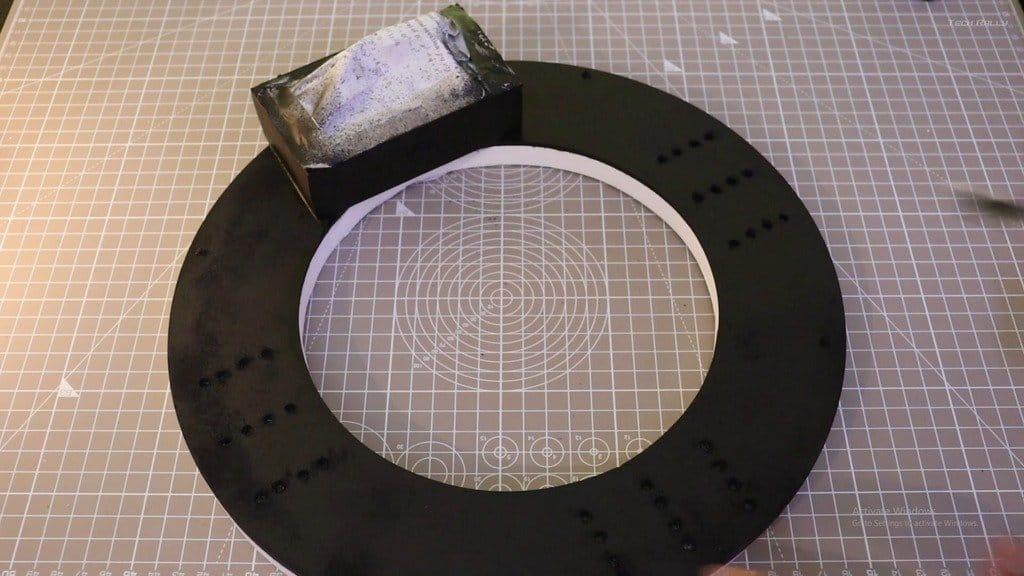 LED ring lamp for studio shooting