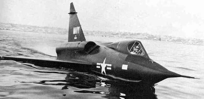 Airplane model Convair XF2Y