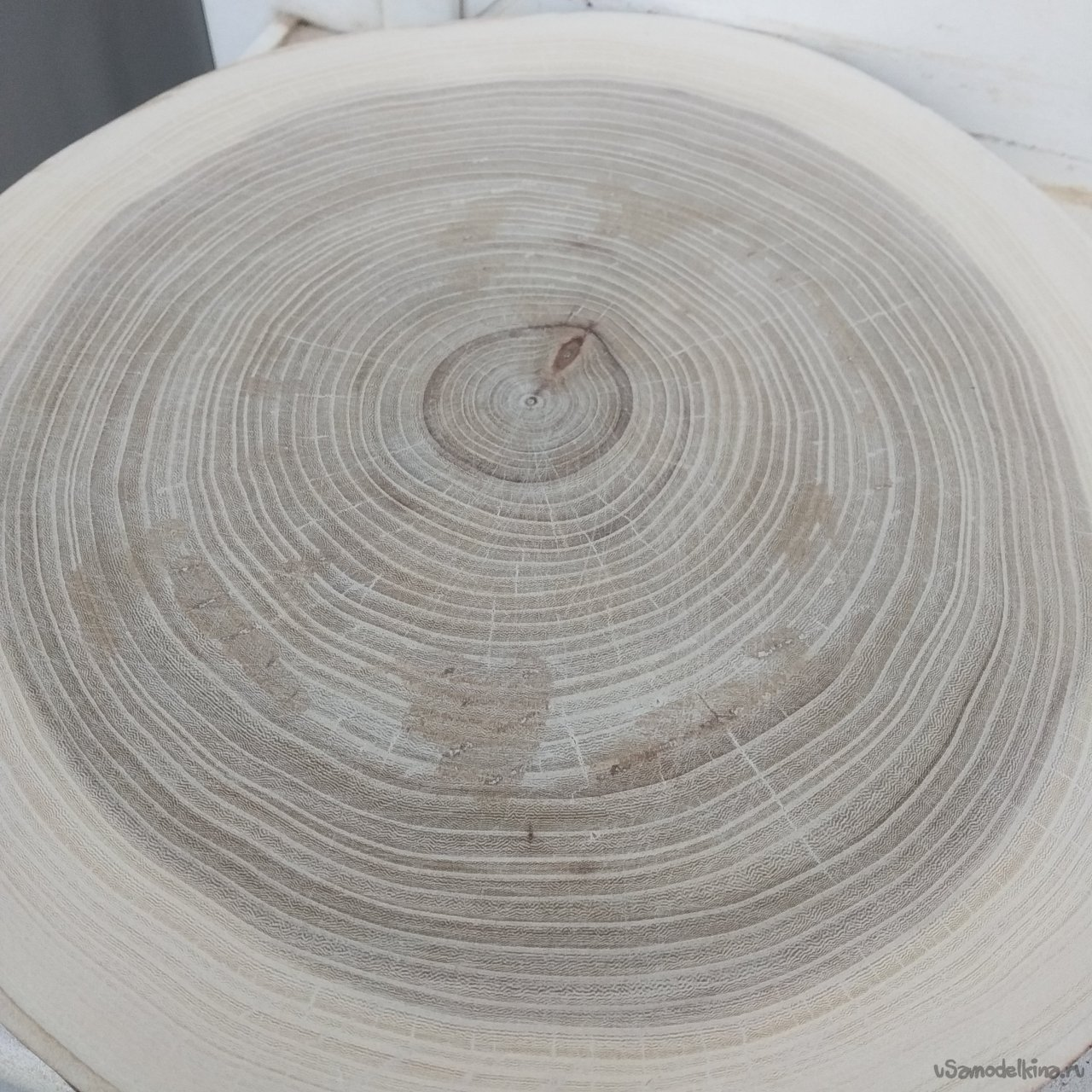 Serving board from elm