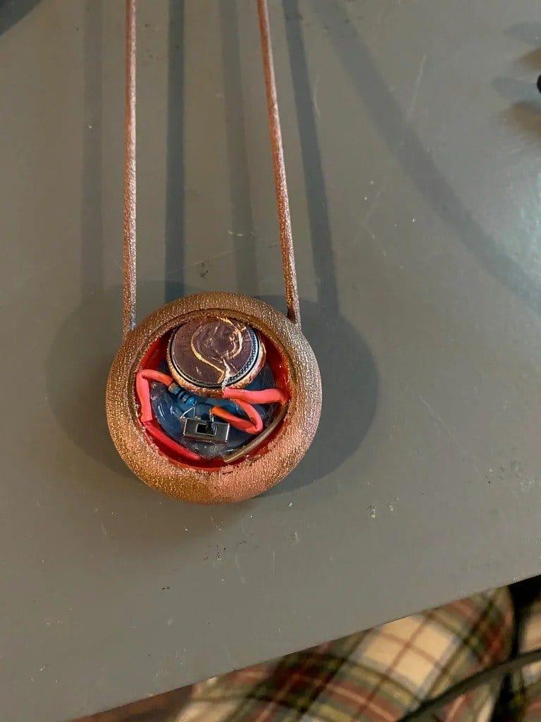 Copper barrette with