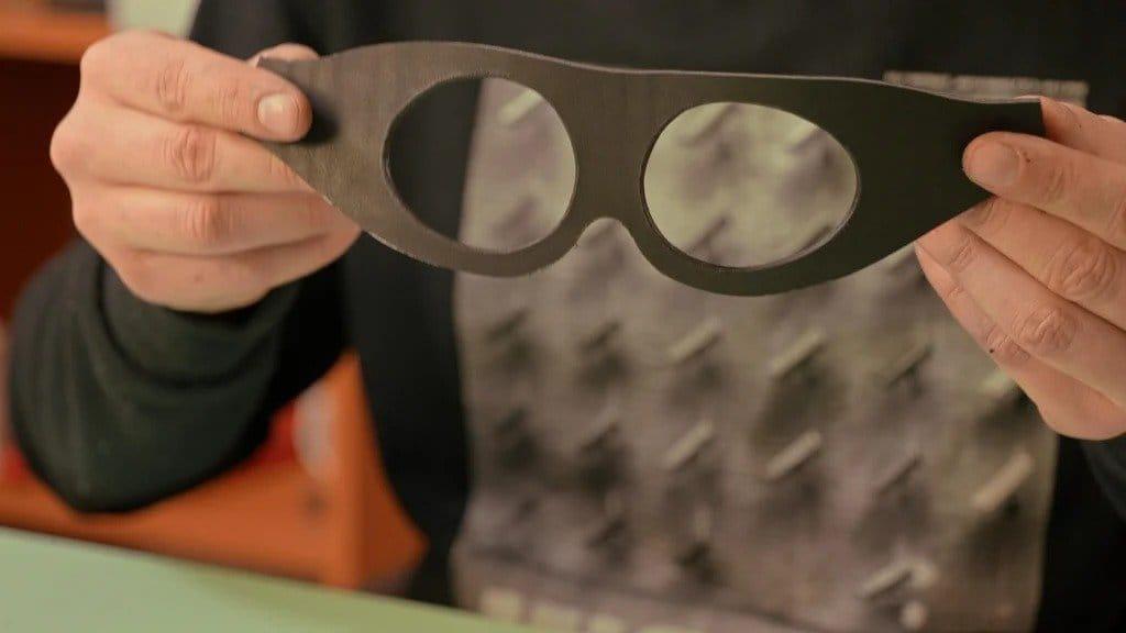 Stylish leather glasses