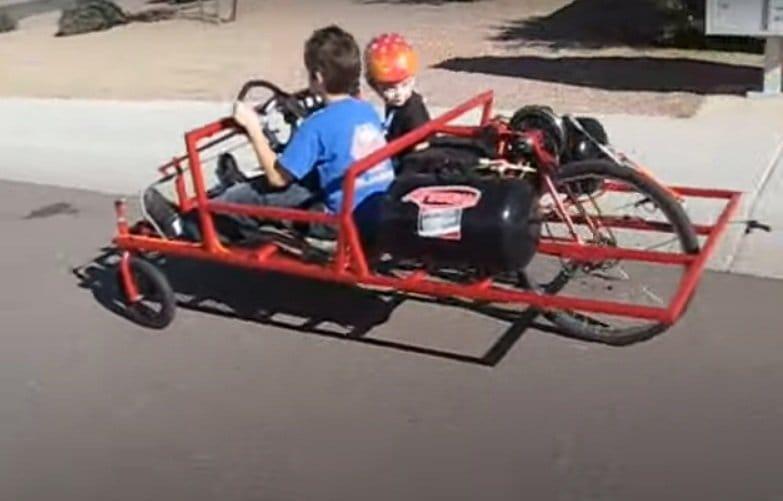 Детский пневматический автомобиль