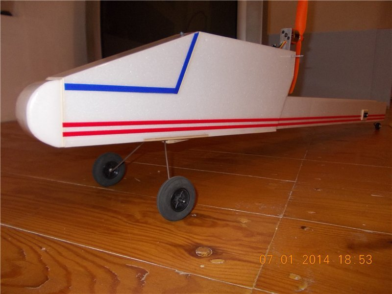 About an aircraft model - a trainer with a pushing propeller, put in the word