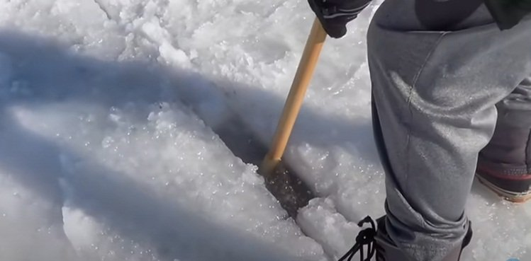 Carousel on a frozen lake