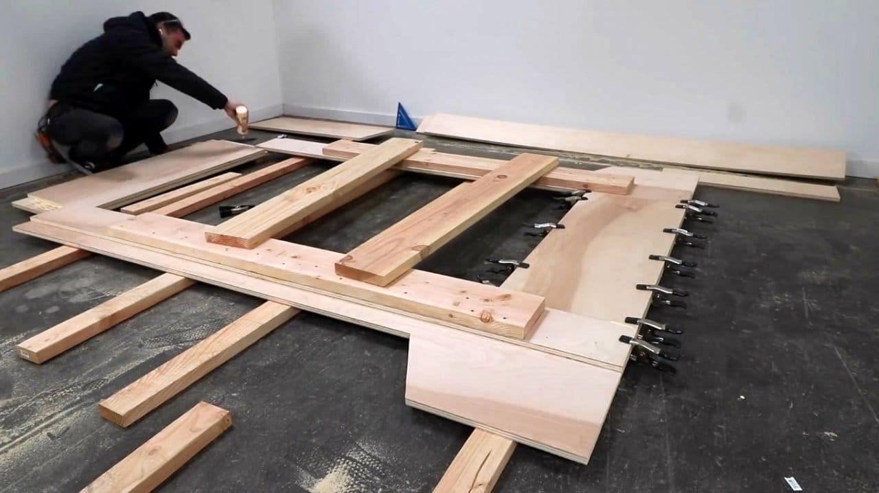 Do-it-yourself platform bed