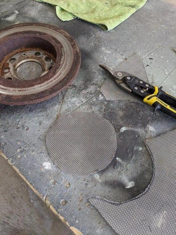 Уличный очаг из тормозного диска