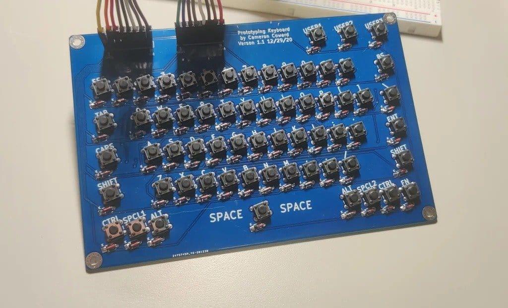 64-key matrix keyboard for working with Arduino