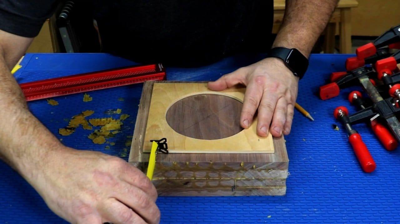 Cigar ashtray from walnut board