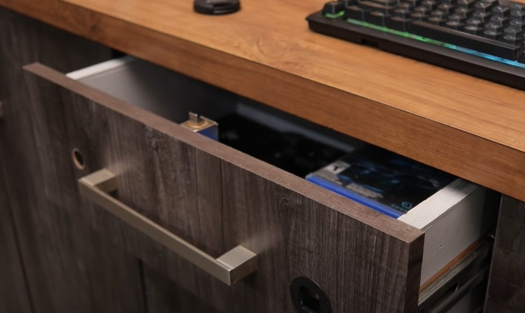 Drawer in the closet with fingerprint access
