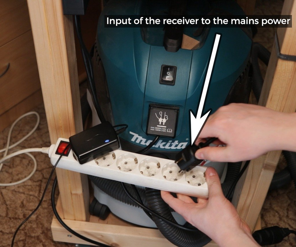 Remote control of the vacuum cleaner