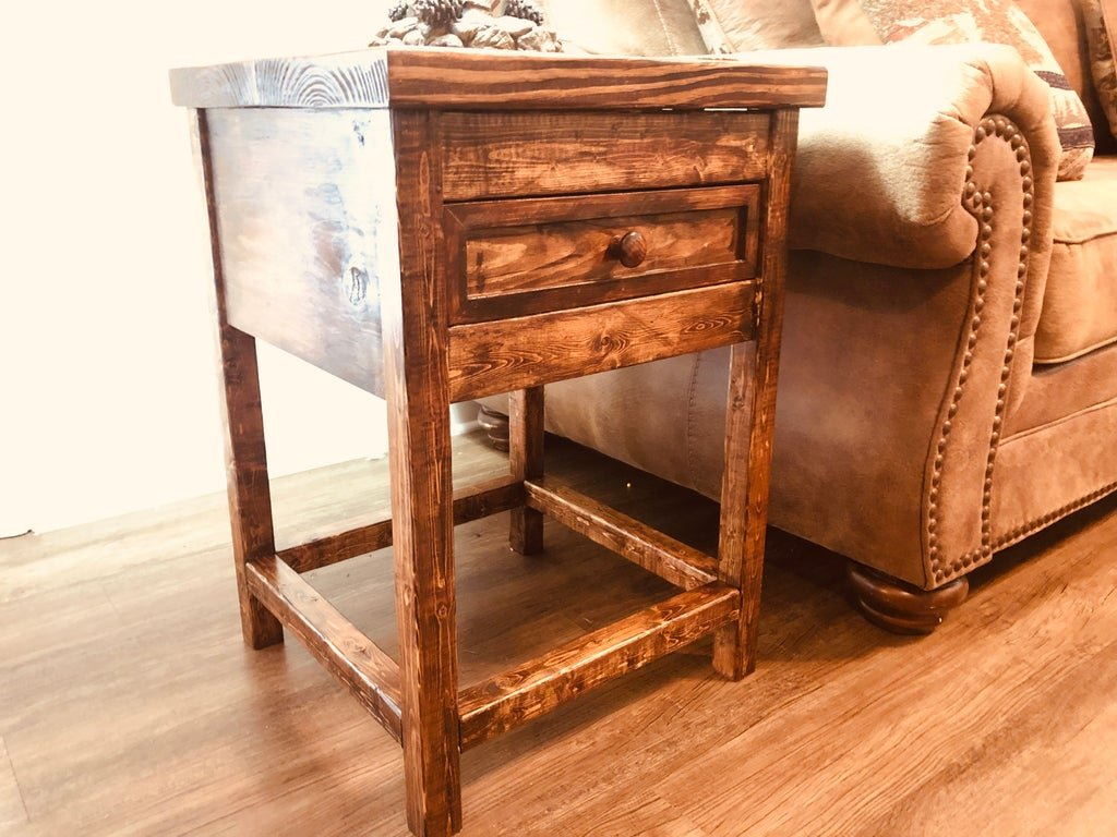 A small side table that can be installed next to a sofa or bed