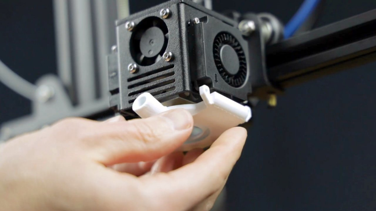 How to install a nozzle camera on a 3D printer. Close-up shot of the plastic laying process.