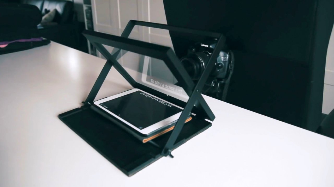 How to make a portable teleprompter (teleprompter)