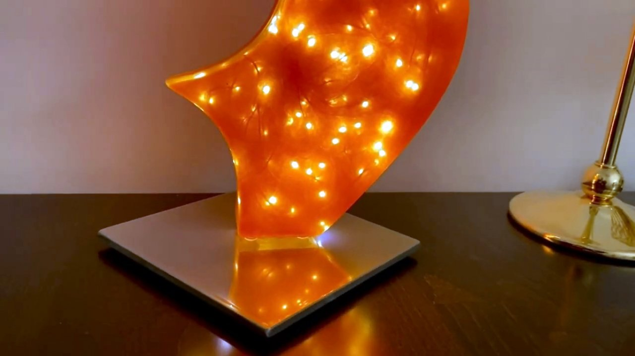 How to make a figured LED lamp