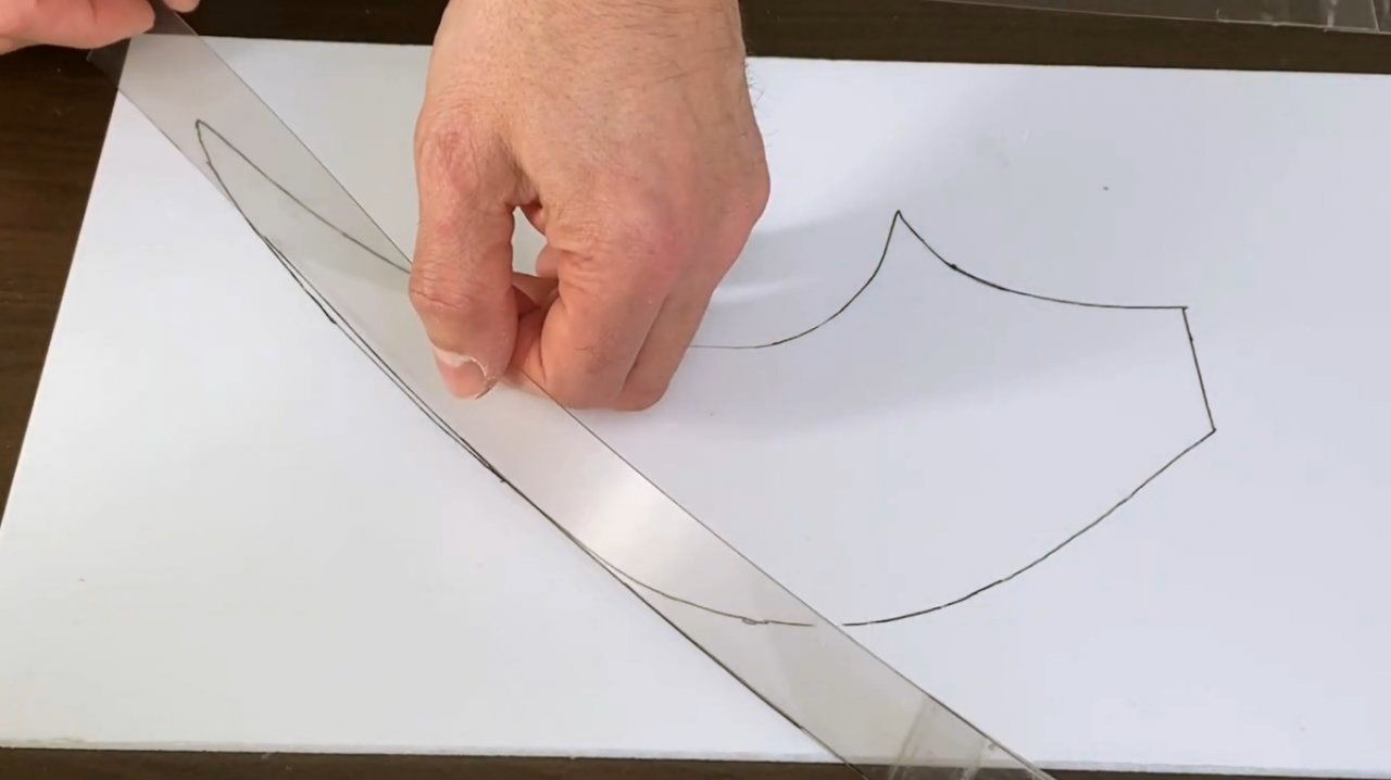 How to make a curved LED lamp