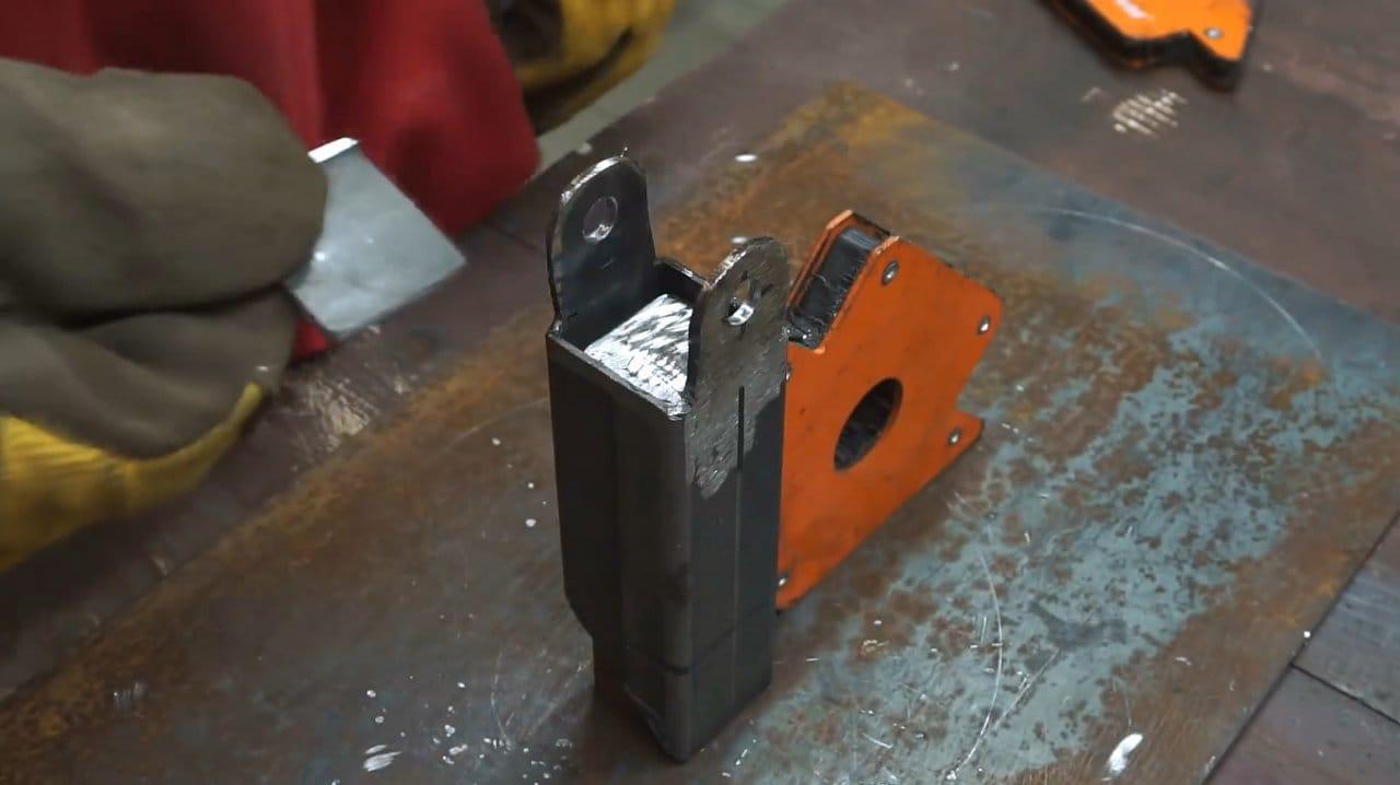 DIY belt sander for grinder