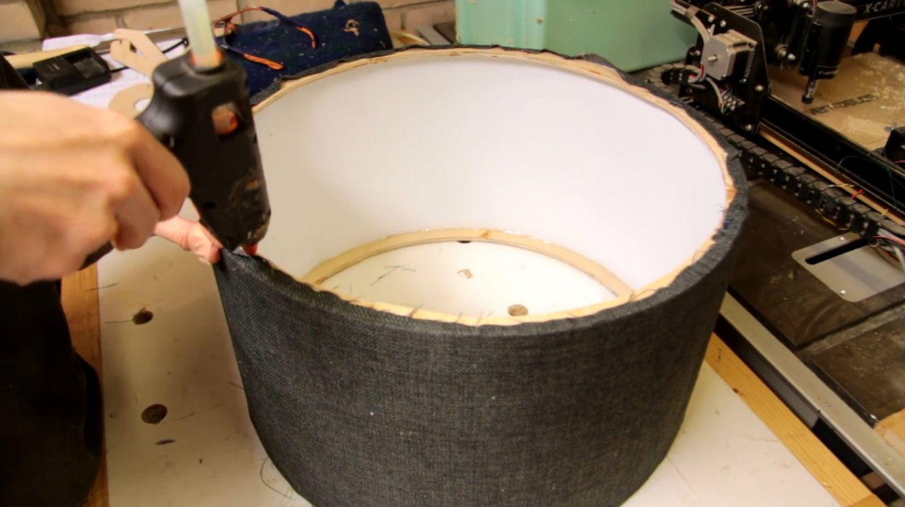 How to make a large fabric lampshade
