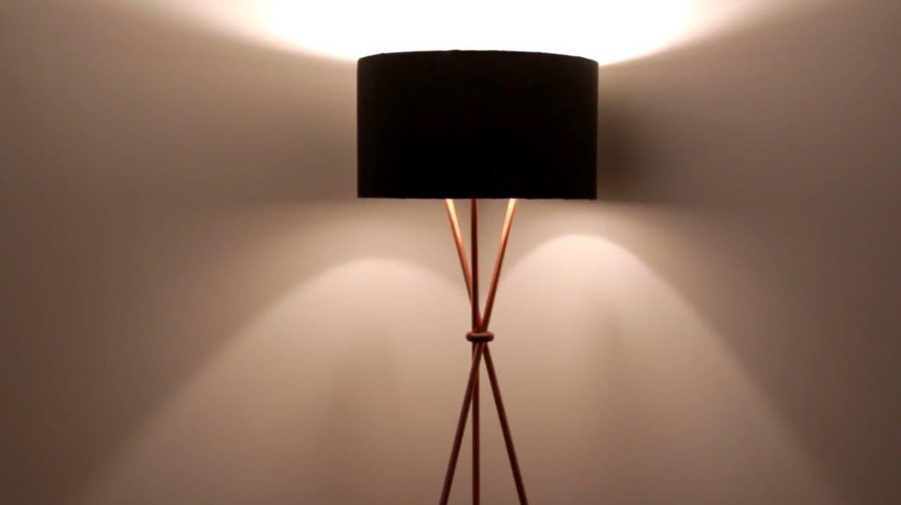 DIY loft floor lamp