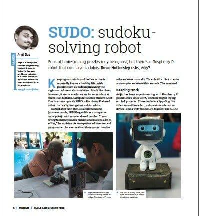 Симпатичный робот, который умеет решать судоку