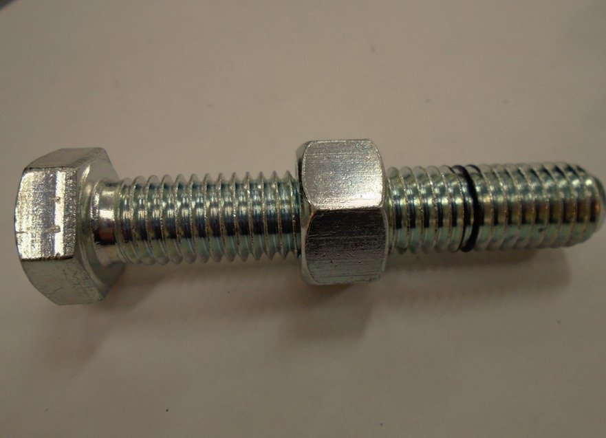 Threaded riveter for work in confined spaces
